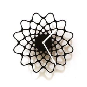 Drevené hodiny Embroidery čierne, 29 cm