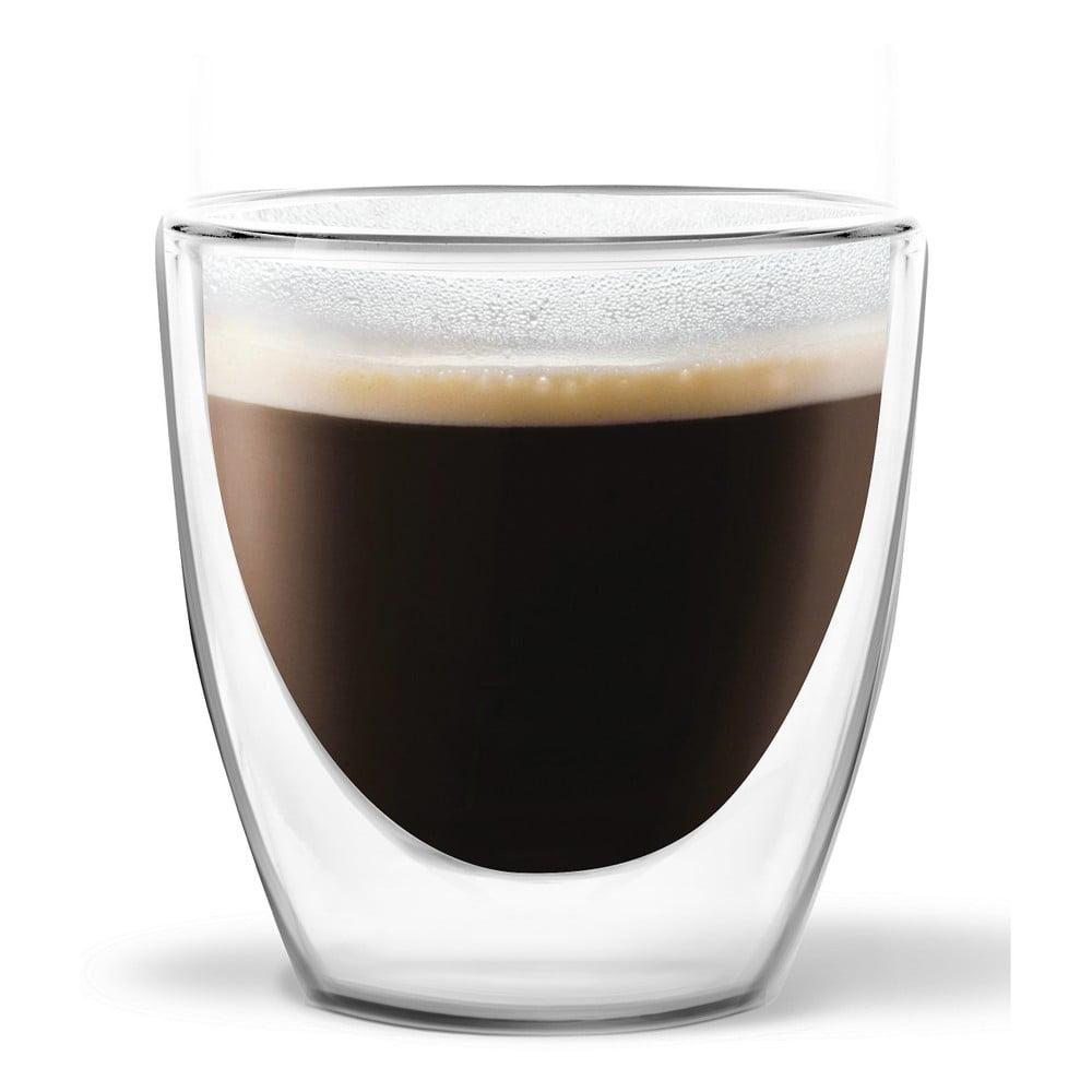 Sada 2 dvojstenných pohárov Vialli Design Ronny Espresso, 80 ml