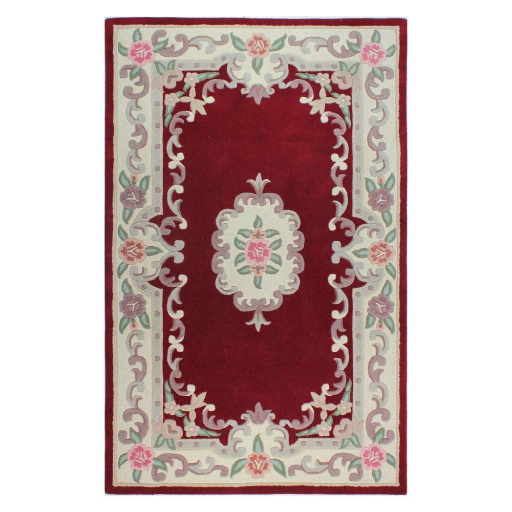Červený vlnený koberec Flair Rugs Aubusson, 120 × 170 cm