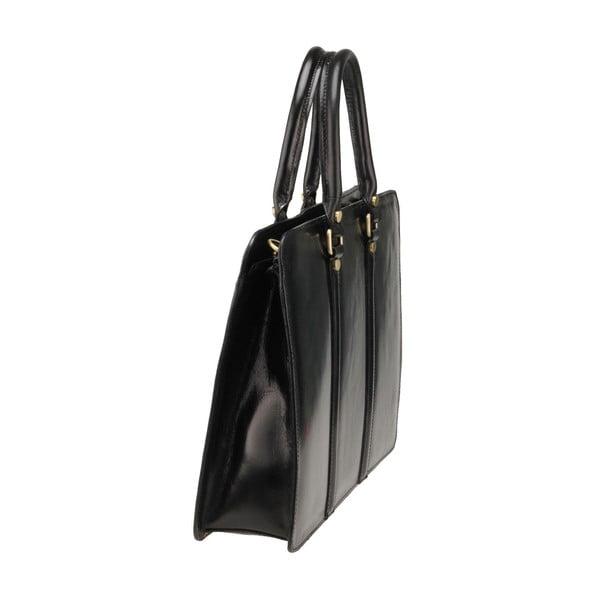 Čierna kožená kabelka Ore Diece Bardo