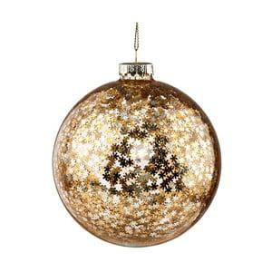 Vianočná závesná ozdoba zo skla v zlatej farbe Butlers Sparkle, ⌀ 10 cm