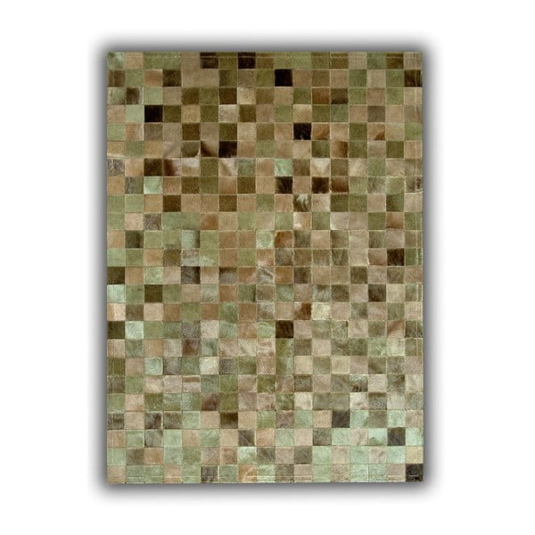 Koberec z pravej kože Green Multi, 150x210 cm
