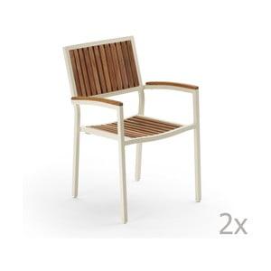 Sada 2 záhradných stoličiek Pranzo