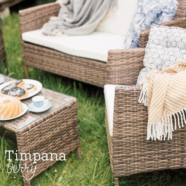 Set záhradného nábytku z umelého ratanu Timpana Berry