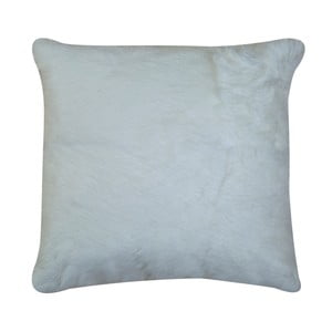 Biely vankúš z králičej kože Pipsa Natural, 40×40 cm