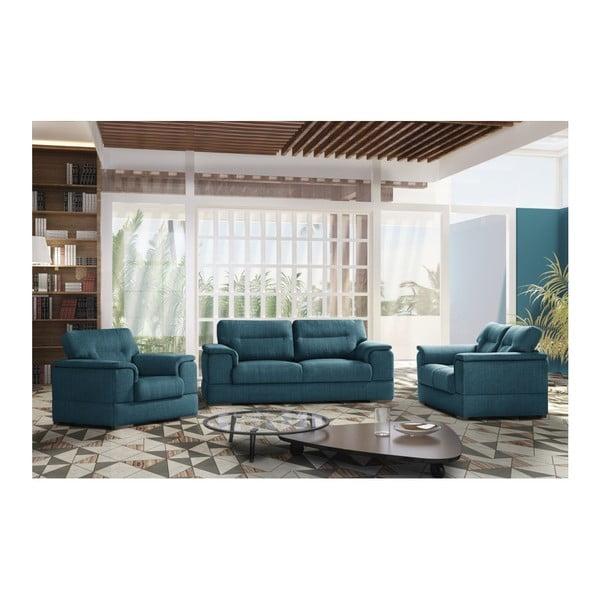 Modrá trojmiestna pohovka Stella Cadente Maison Madeiro