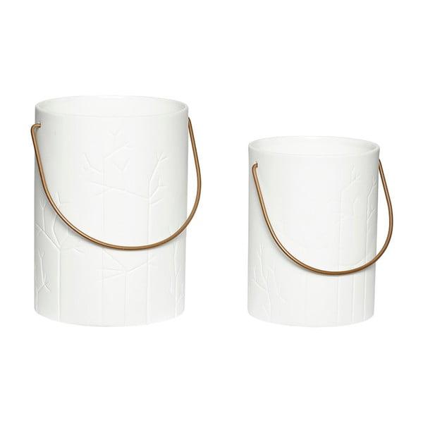 Sada 2 porcelánových lampášov Hübsch Deb