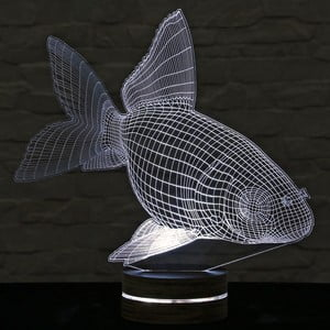 3D stolová lampa Fish Joe