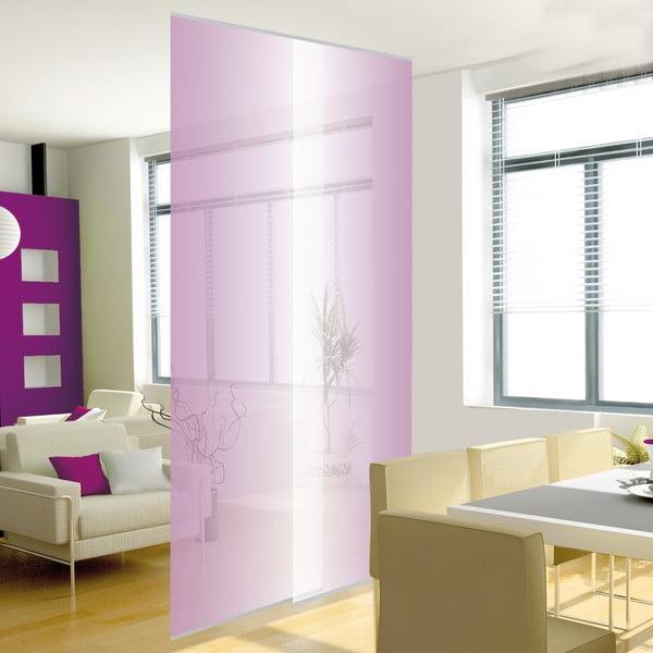 Sada 2 závesných panelov, transparentná fialová