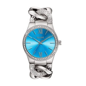 Dámské hodinky Brillante Silver/Blue Lagoon, 38 mm