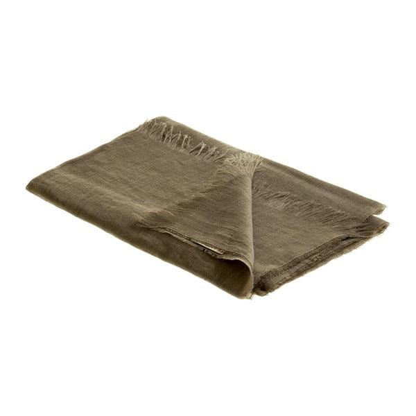 Ľanová šatka Luxor 65x200 cm, khaki