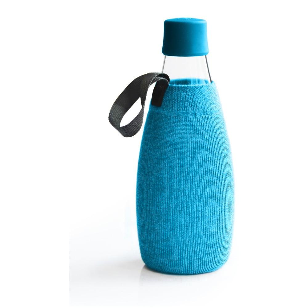 Svetlomodrý obal na sklenenú fľašu ReTap s doživotnou zárukou, 800 ml