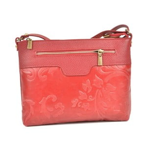 Červená kožená kabelka Renata Corsi Mula