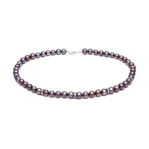 Fialový perlový náhrdelník GemSeller Jelte