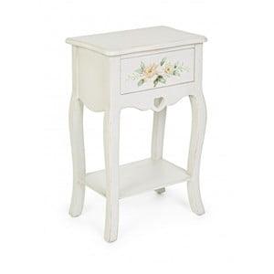 Odkladací stolík so zásuvkou Bizzotto Bloomy, šírka 45 cm