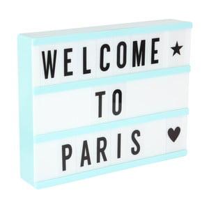 Svetlomodrá svetelná tabuľa s 3 riadkami Opjet Paris Affichage