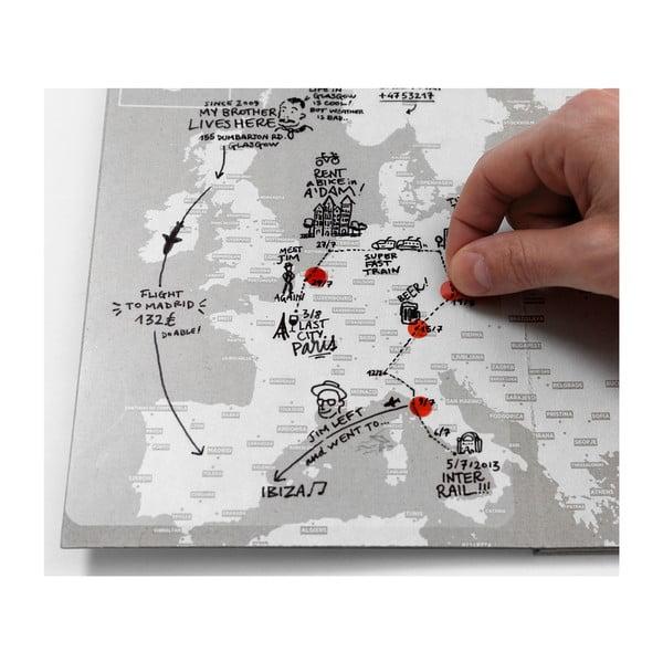 Mapa sveta na popisky Palomar Transparent World