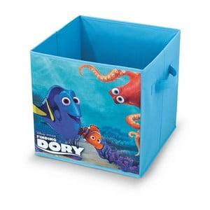 Modrý úložný box Domopak Living Finding Dorry