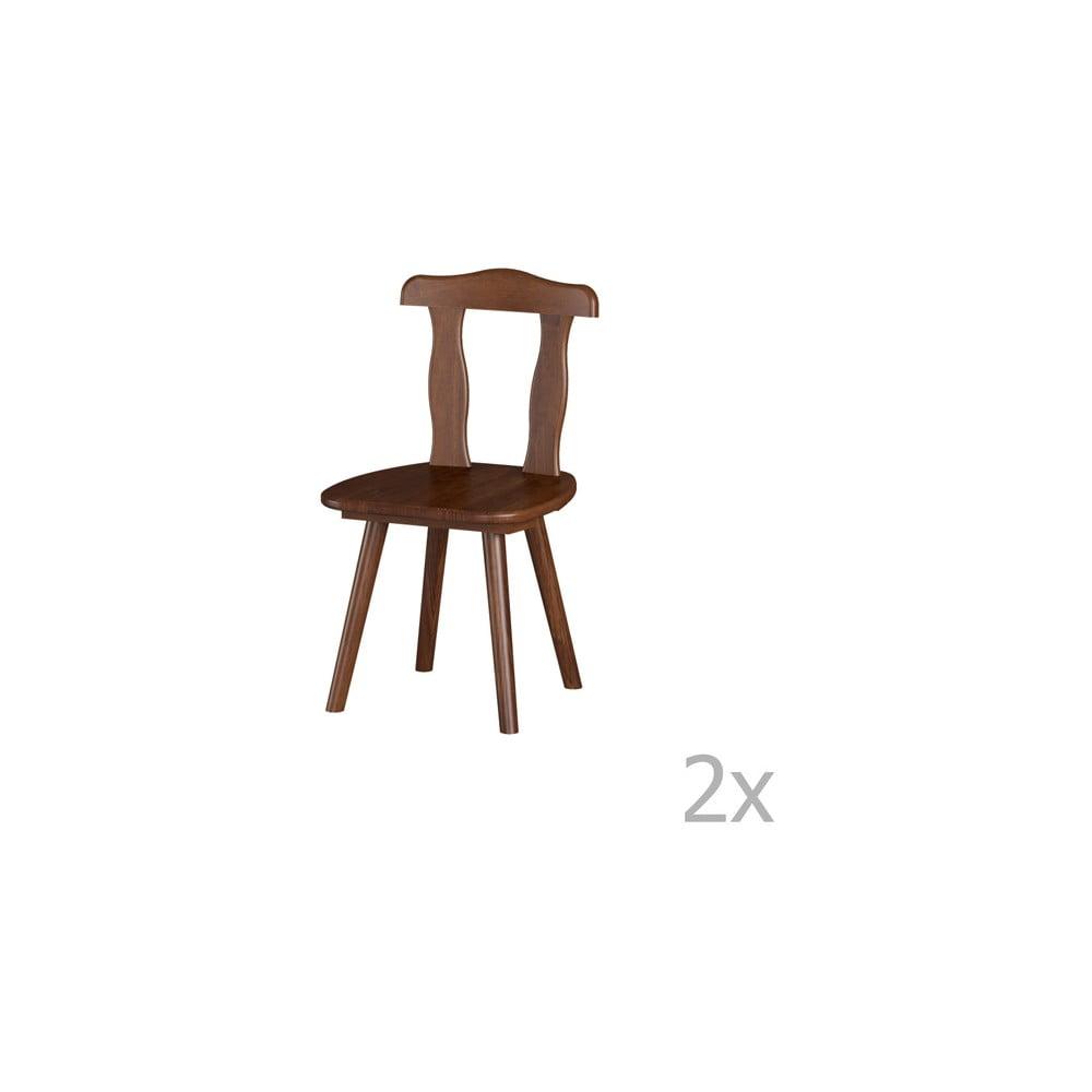 Sada 2 jedálenských stoličiek z masívneho borovicového dreva Interlink Aosta