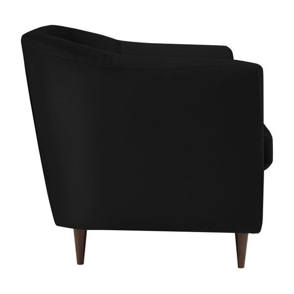 Čierna trojmiestna pohovka Kooko Home Glam
