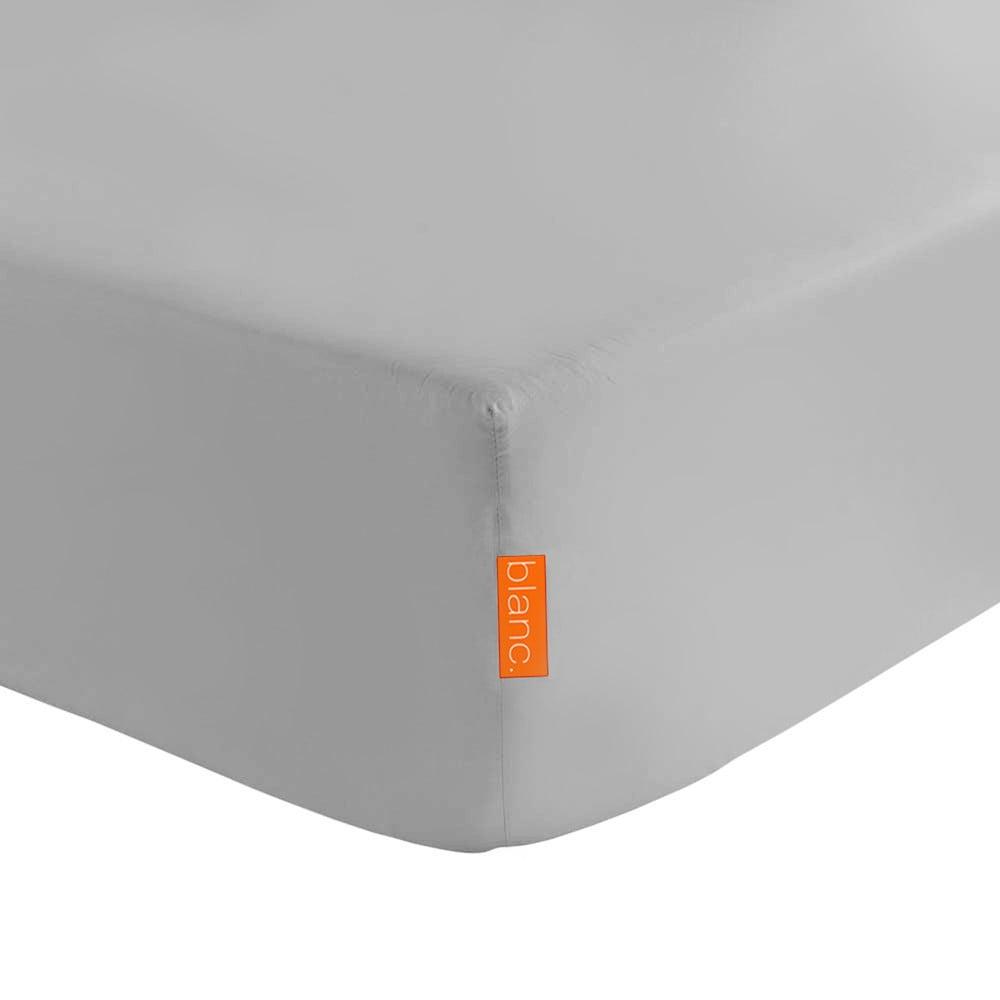 Sivá elastická plachta z čistej bavlny Happy Friday Basic, 90 x 200 cm