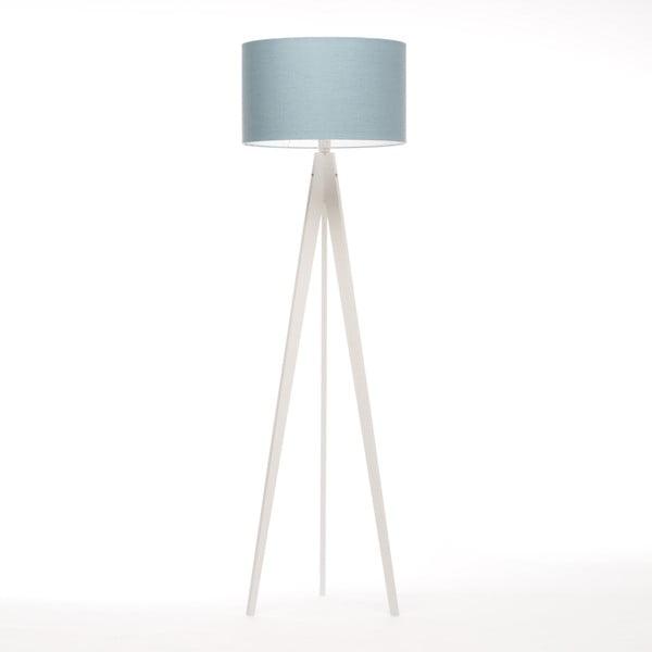 Stojacia lampa Artist Light Blue Linnen/White Birch, 125x42 cm