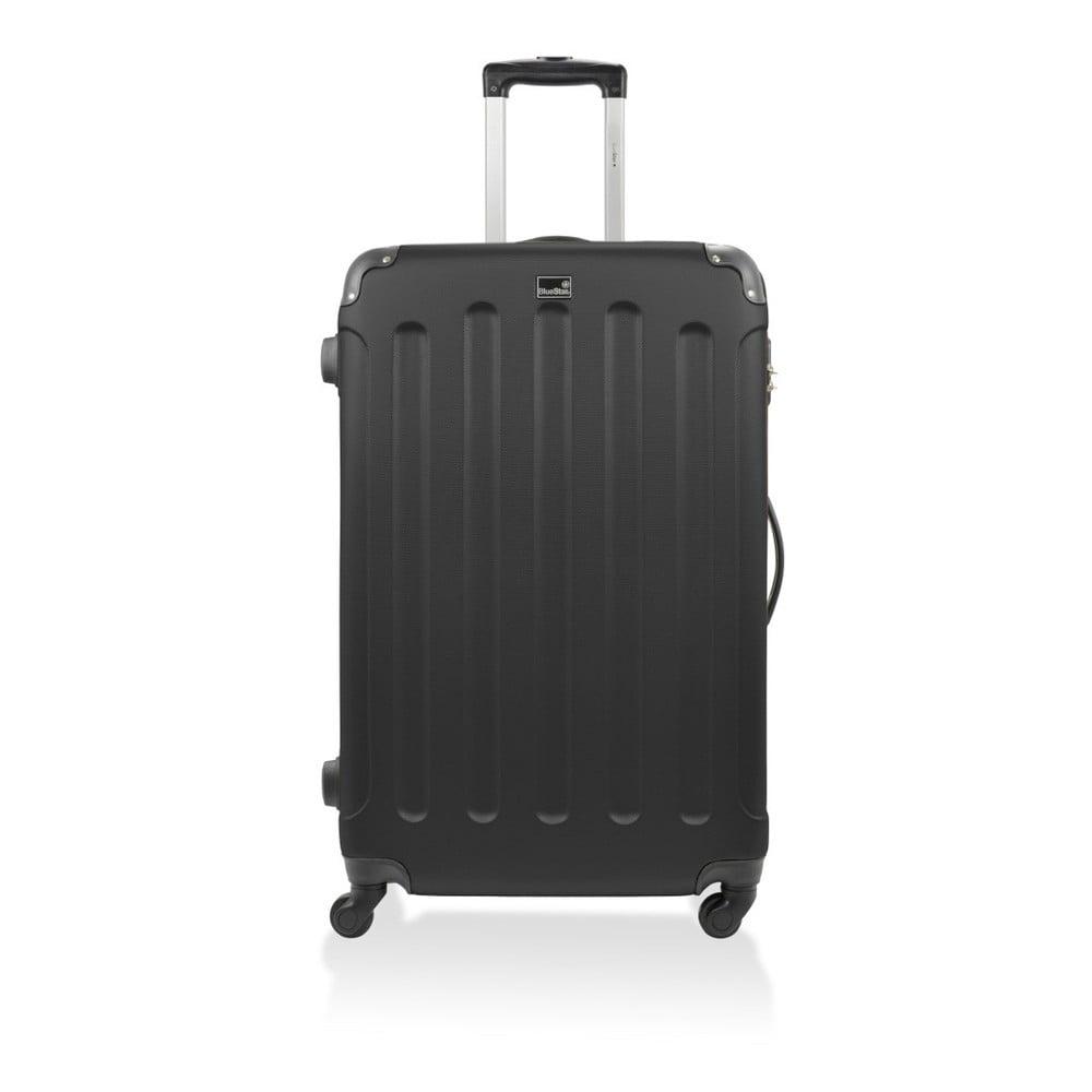 Čierny cestovný kufor na kolieskach Bluestar, 46 l