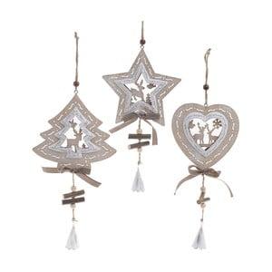 Sada 3 závesných dekorácií InArt Ornament