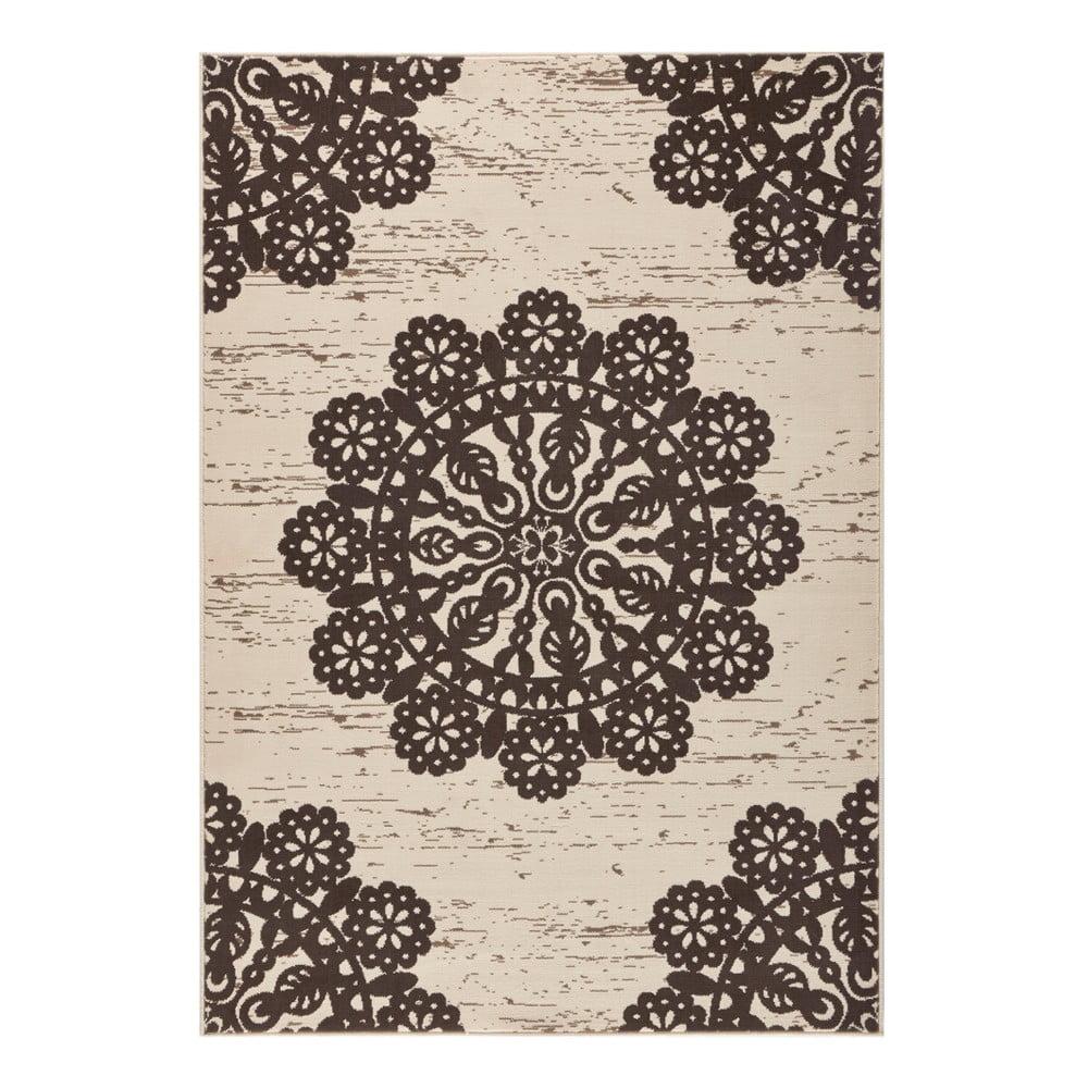 Hnedý koberec Hanse Home Gloria Lace, 120 x 170 cm