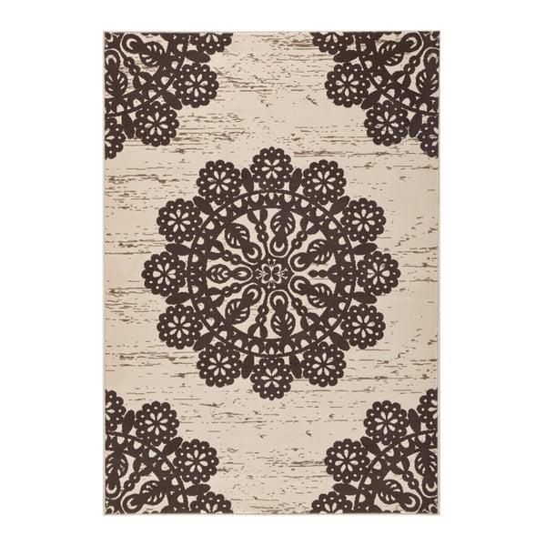 Hnedý koberec Hanse Home Gloria Lace, 80 x 150 cm