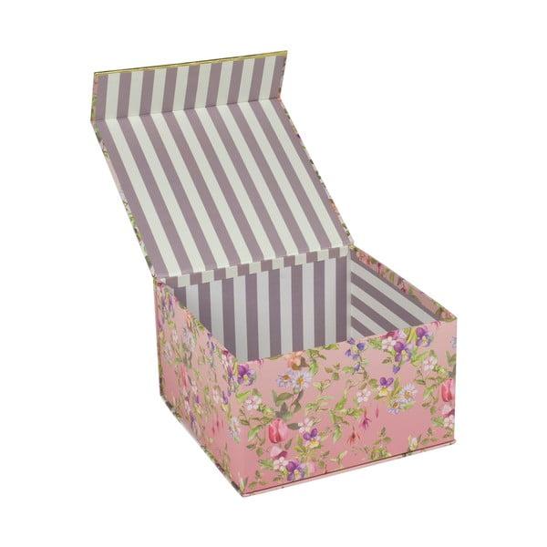Sada 3 úložných boxov s magnetickým zatváraním Charming Garden