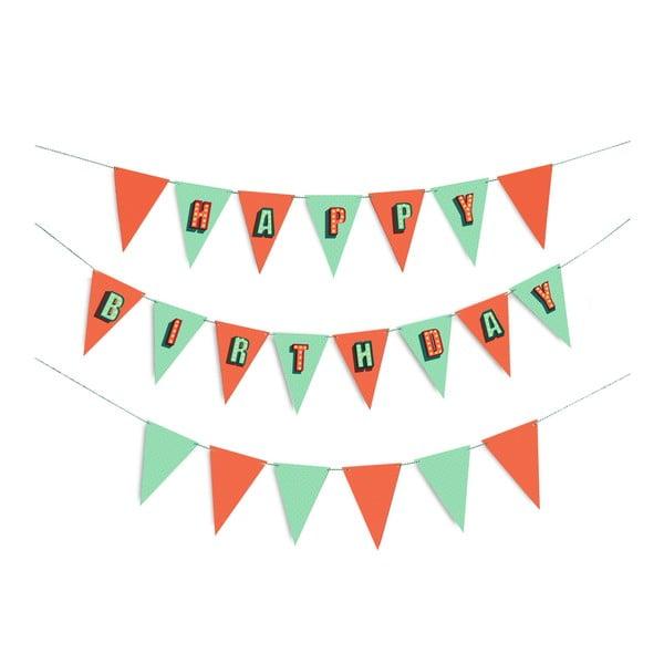 Párty vlajočky Birthday