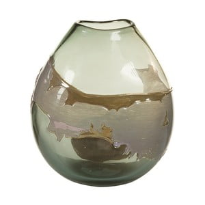 Ručne vyrábaná krištáľová váza Santiago Pons Forest, výška 26 cm