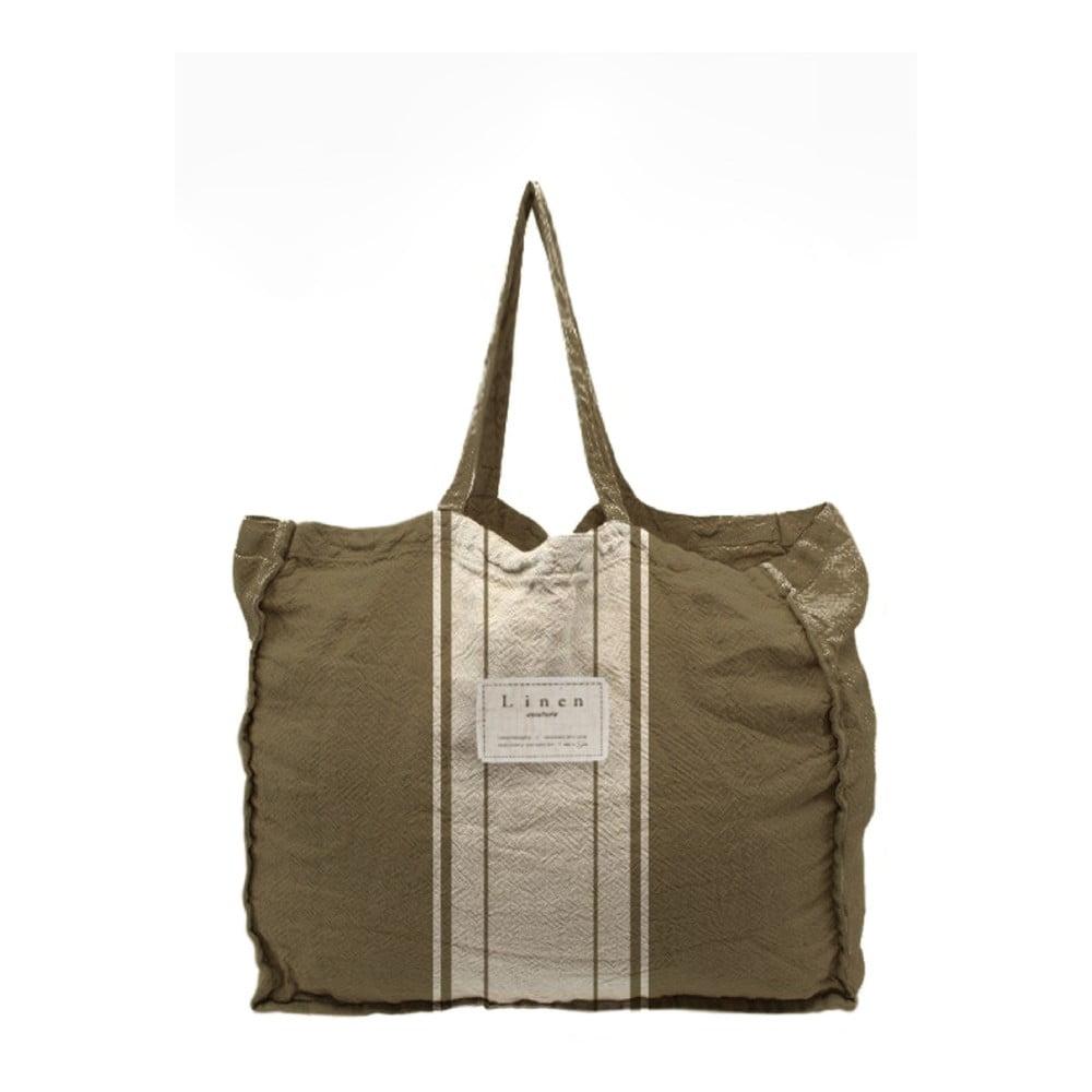 Látková taška Linen Couture Dark Grey, šírka 50 cm