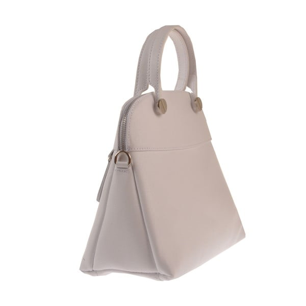 Biela kožená kabelka Florence Bags Yutz