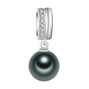 Náhrdelník s tmavozelenou perlou Pearls Of London Lady