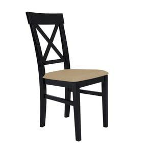 Čierna stolička s béžovým sedadlom BSL Concept Hinn