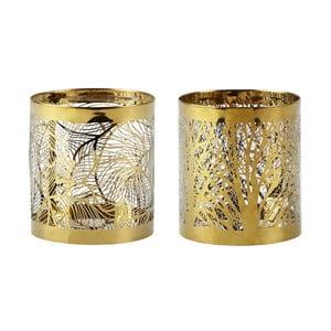 Sada 2 svietnikov KJ Collection Gold Stain, 9 cm