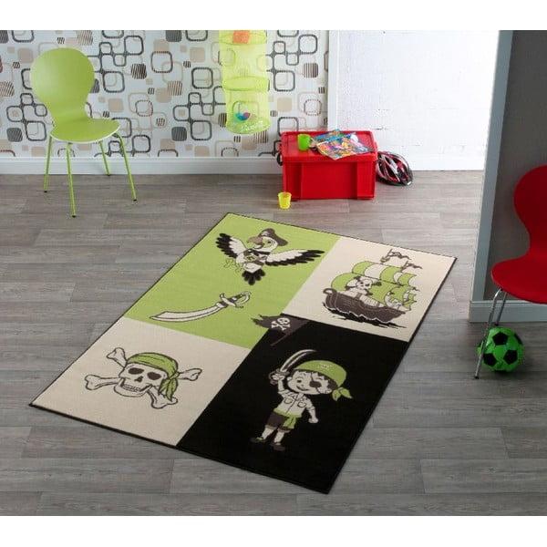 Detský zelený koberec Hanse Home Pirát, 140×200cm