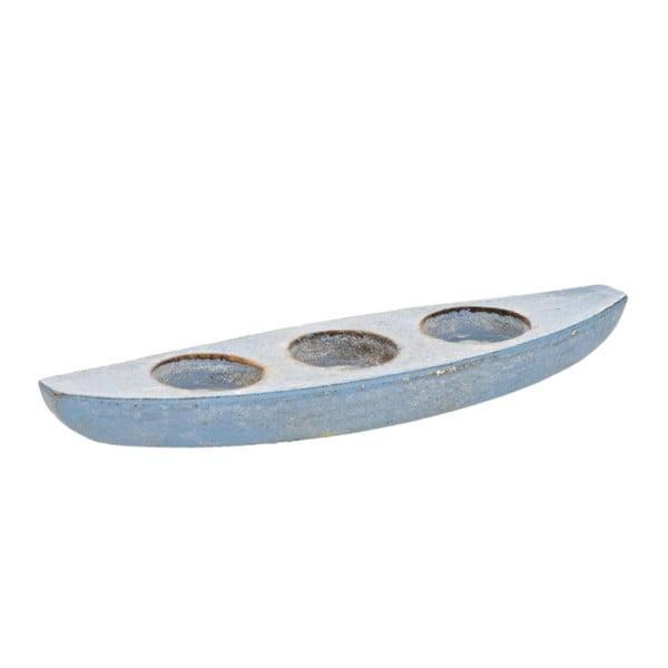 Svietnik Blue Boat, 26x7x3 cm