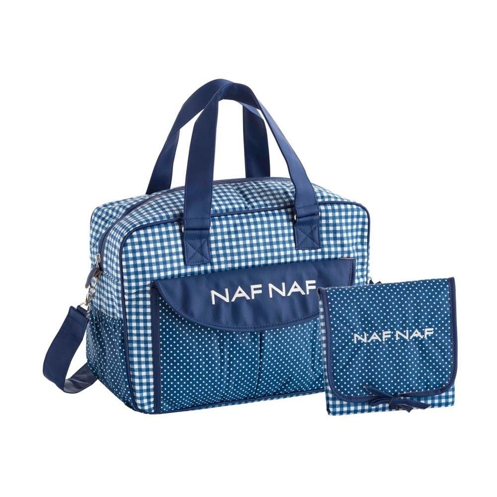 Set modré tašky na kočiar a prebaľovacej podložky Naf Naf Vichy
