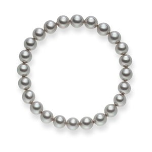 Perlový náramok Renee Light Grey, 19 cm
