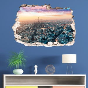 3D samolepka na stenu Ambiance Panorama of Paris