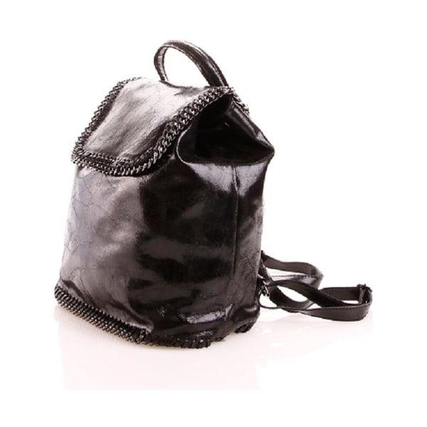 Kožený batôžtek Emily, čierny