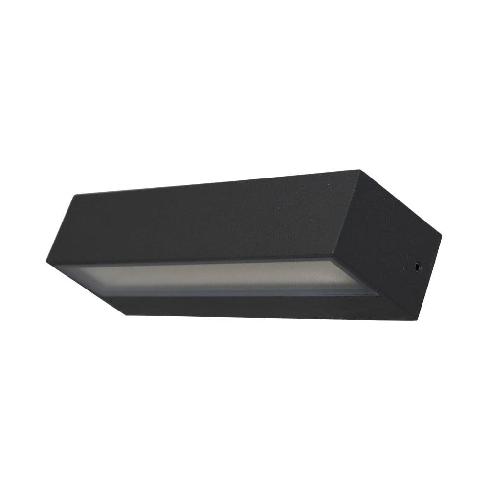 Sivé nástenné svietidlo SULION Tisa, 22 × 7,25 cm