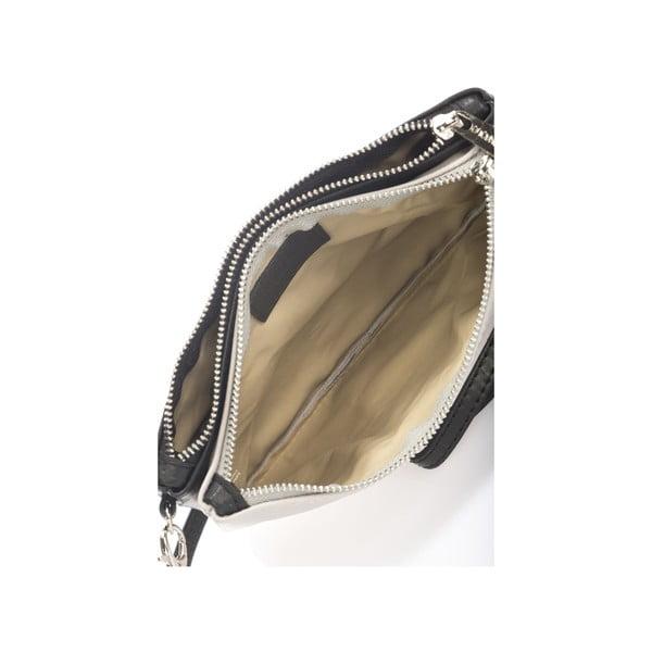 Kožená kabelka Krole Kody s dvoma vreckami, sivá