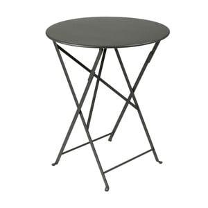 Sivý skladací kovový stôl Fermob Bistro