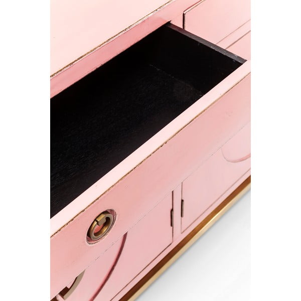 Ružová komoda Kare Design Disk