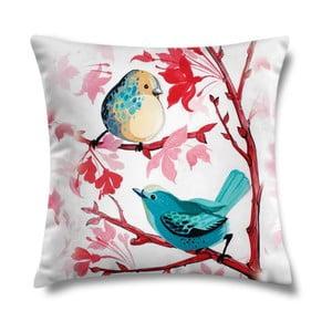 Vankúš Blue Birds, 43x43 cm