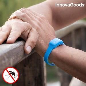 Modrý repelentný náramok proti komárom s vôňou citronely InnovaGoods